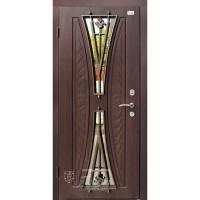ABWEHR Metāla durvis ar MDF apdari AURELIA-S (AP1) 860/960x2050 (Tumšais ozols)